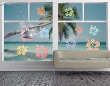Adesivi da finestra no.547 Hibiscus In Pastells