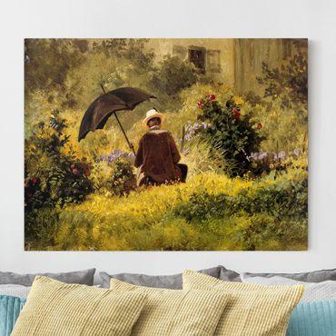 Quadri su tela - Carl Spitzweg - Il Pittore In The Garden