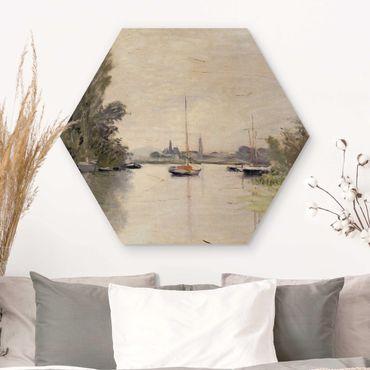 Esagono in legno - Claude Monet - Argenteuil