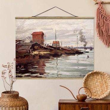 Foto su tessuto da parete con bastone - Claude Monet - Le sue Petit-Gennevilliers - Orizzontale 3:4