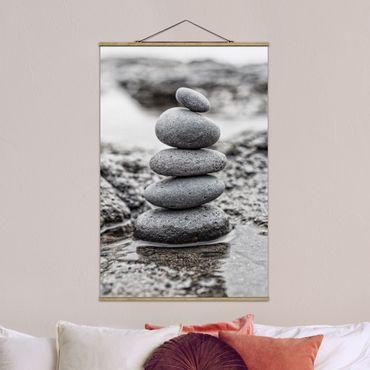 Foto su tessuto da parete con bastone - Torre In Pietra In Acqua - Verticale 3:2