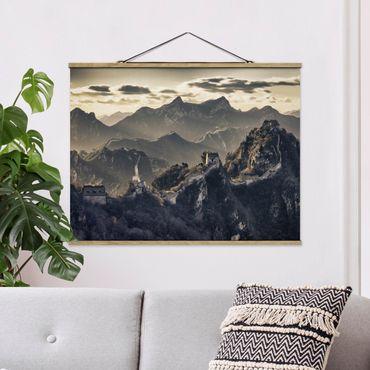 Foto su tessuto da parete con bastone - La Grande Muraglia cinese - Orizzontale 3:4