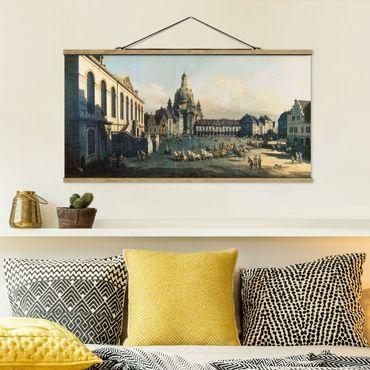 Foto su tessuto da parete con bastone - Bernardo Bellotto - Il Nuovo Mercato A Dresda - Orizzontale 1:2