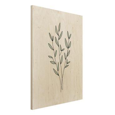 Stampa su legno - Filiali Line Art - Verticale 4:3