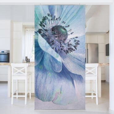Tenda a pannello - Flower in Turquoise - 250x120cm