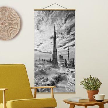 Foto su tessuto da parete con bastone - Dubai Super Skyline - Verticale 2:1