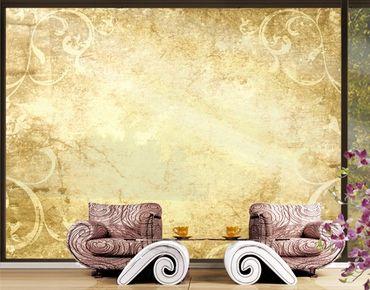 XXL Pellicola per vetri - Parchment With Ornamentation