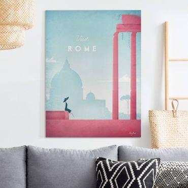 Stampa su tela - Poster Travel - Rome - Verticale 4:3