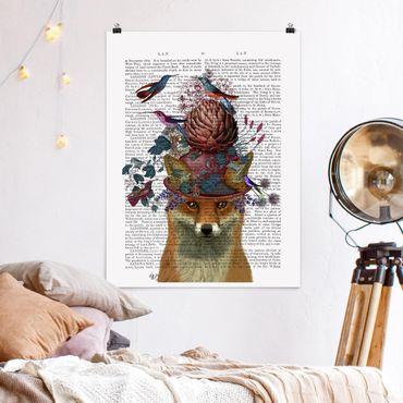 Poster - Fowler - Fox Con Carciofo - Verticale 4:3