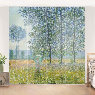 Tende scorrevoli set - Claude Monet - campo in primavera - 4 Pannelli