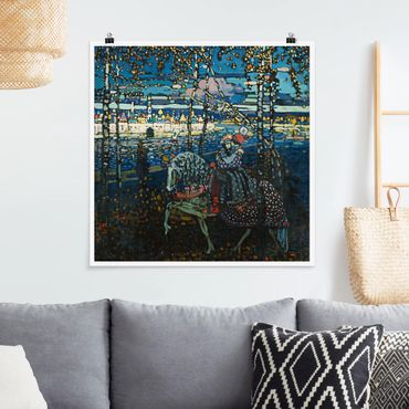Poster - Wassily Kandinsky - coppia di equitazione - Quadrato 1:1
