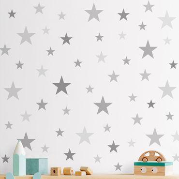Adesivo murale - 92 Stella Set Grey