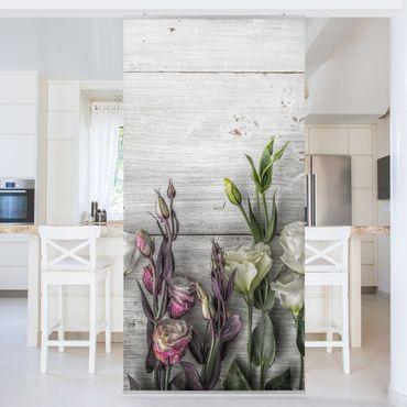 Tenda a pannello Tulip Pink Shabby wood optic 250x120cm