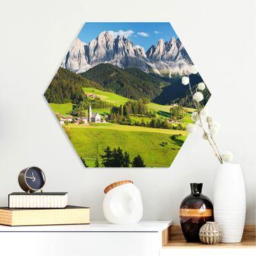 Esagono in forex - Odle in Alto Adige