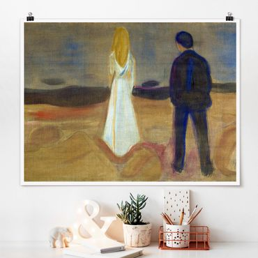 Poster - Edvard Munch - Due persone - Orizzontale 3:4