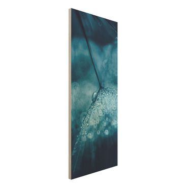 Quadro in legno - Tarassaco Blu In The Rain - Pannello