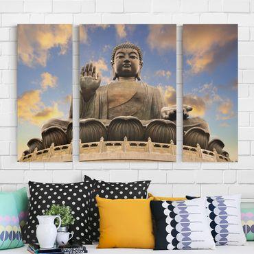 Stampa su tela 3 parti - Big Buddha - Trittico