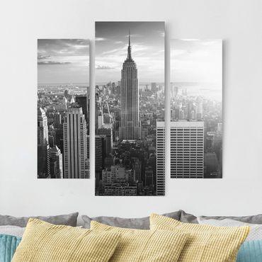 Stampa su tela 3 parti - Manhattan Skyline - Trittico da galleria