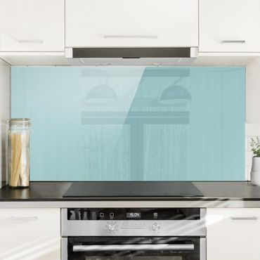 Paraschizzi in vetro - Pastel Turquoise