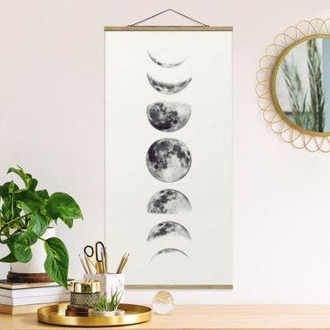 Foto su tessuto da parete con bastone - sette Lune - Verticale 2:1