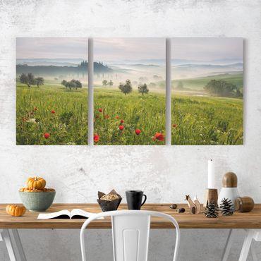 Stampa su tela 3 parti - Tuscany spring - Verticale 3:2