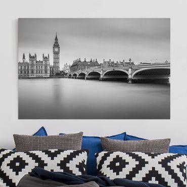 Stampa su tela - Ponte di Westminster e il Big Ben - Orizzontale 3:2