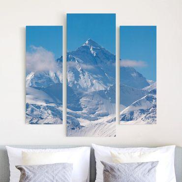 Stampa su tela 3 parti - Mount Everest - Trittico da galleria