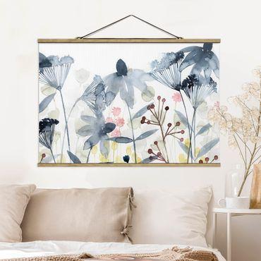 Foto su tessuto da parete con bastone - Wildflower Acquerello II - Orizzontale 2:3