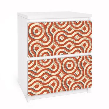 Carta adesiva per mobili IKEA - Malm Cassettiera 2xCassetti - Abstract Ethno adhesive film texture