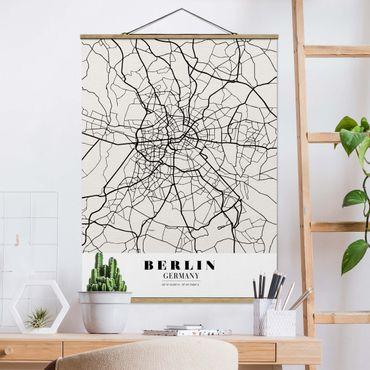 Foto su tessuto da parete con bastone - Mappa Berlino - Classic - Verticale 4:3