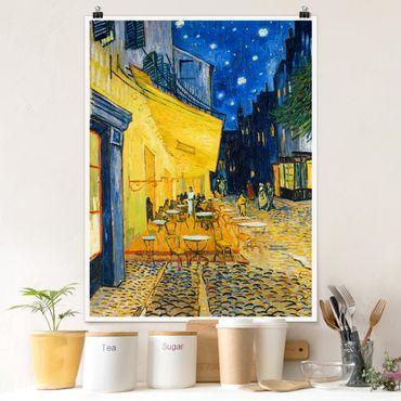 Poster - Vincent Van Gogh - Terrazza del caffe ad Arles - Verticale 4:3