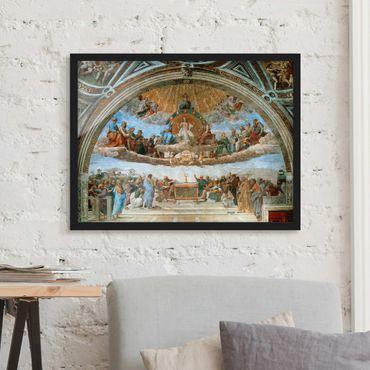 Poster con cornice - Raphael - Dispute On The Sacrament - Orizzontale 3:4