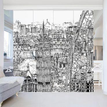 Tende scorrevoli set - Studio di città - London Eye