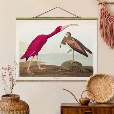 Foto su tessuto da parete con bastone - Vintage Consiglio Rosso Ibis - Orizzontale 3:4
