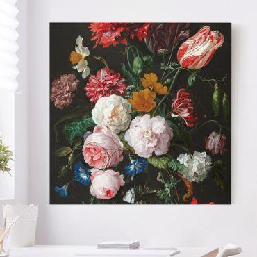 Quadri su tela - Jan Davidsz De Heem - Natura morta con fiori in un vaso di vetro