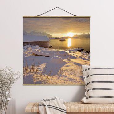 Foto su tessuto da parete con bastone - Boathouse A Gammelgarden - Quadrato 1:1