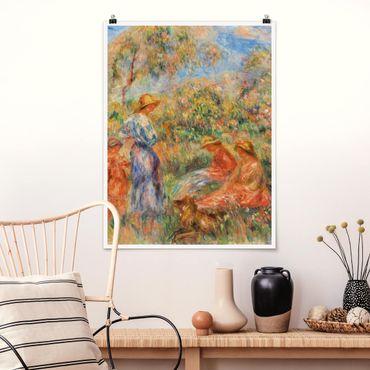 Poster - Auguste Renoir - Paesaggio con le donne e bambini - Verticale 4:3