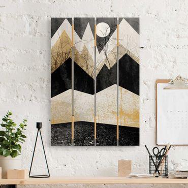 Stampa su legno - Elisabeth Fredriksson - Oro Montagne Branches - Verticale 3:2