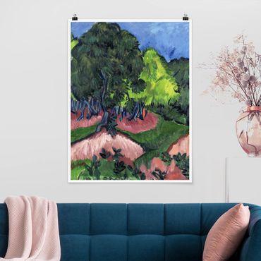Poster - Ernst Ludwig Kirchner - Paesaggio Con Castagno - Verticale 4:3
