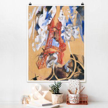 Poster - Robert Delaunay - La Torre Eiffel - Verticale 4:3