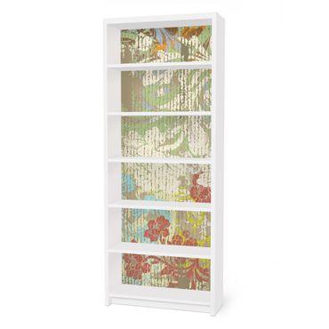 Carta adesiva per mobili IKEA - Billy Libreria - Flowers yesteryear