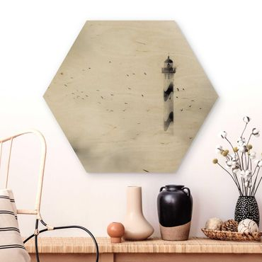 Esagono in legno - Faro Nella Nebbia