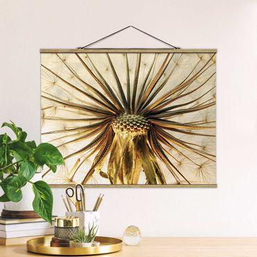 Foto su tessuto da parete con bastone - Dandelion Close Up - Orizzontale 3:4