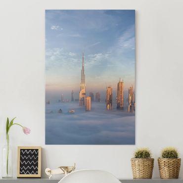 Stampa su tela - Dubai Sopra Le Nuvole - Verticale 3:4