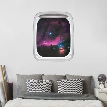 Adesivo murale 3D - Finestra Aereo Su Orione