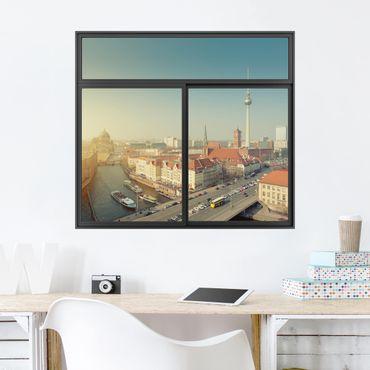 Trompe l'oeil adesivi murali - Finestra su Berlino