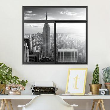 Trompe l'oeil adesivi murali - Finestra su Manhattan Skyline