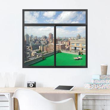 Trompe l'oeil adesivi murali - Finestra su New York