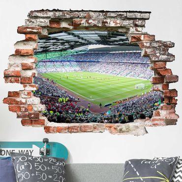 Adesivo murale 3D - Football Stadium - orizzontale 4:3