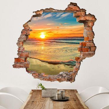 Adesivo murale 3D - Golden Sunrise